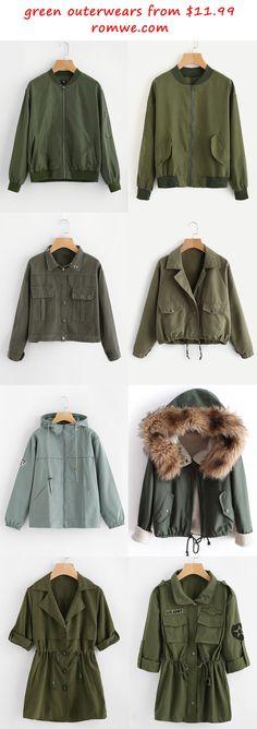 green outerwears 2017 - romwe.com
