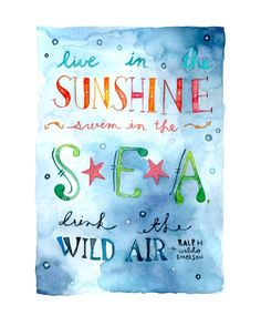 Drink The Wild Air Art Print