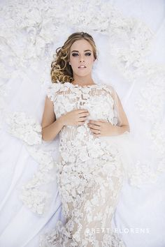 Weddings Beautiful Bride Couture Dress Romance Lace Style Brett Florens Photography