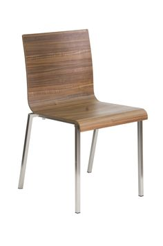 """""""Kuadra Contemporary Wood Chair"""" Stackable chair with multilayer shell bleached oak veneered.  Shell also available stained wenge or ebony and zebrano veneered.  Please contact us for pricing (718)363-3097."""