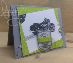 Enjoy the Ride | Stampin\' Up! | One Wild Ride #literallymyjoy #motorcycle #tiretracks #heatembossing #lemonlimetwist #masculine #EaternPalaceDSP #20172018AnnualCatalog