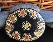 mandala stone, river rock, meditation stone, wedding stone, wishing stone, hand-painted