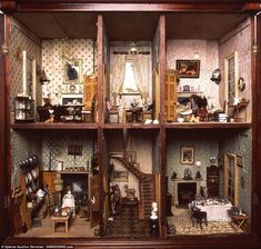 Rare piece: the doll's house is a rare piece of art that had been perfectly preserved after it was made by an estate carpenter in Plymouth, Devon, for Rose Bellamy who was born in 1839. It remained in the same family until 1976