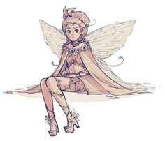 fairy doodle I drew a lot of fairies recently and finished none of course