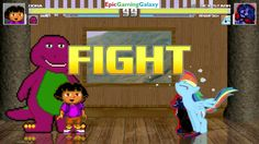 Barney The Dinosaur And Dora The Explorer VS Dex-Starr The Cat & Rainbow Dash In A MUGEN Match This video showcases Gameplay of Barney The Dinosaur From The Barney & Friends Series And Dora The Explorer VS Dex-Starr The Cat And Rainbow Dash From The My Little Pony Friendship Is Magic Series In A MUGEN Match / Battle / Fight