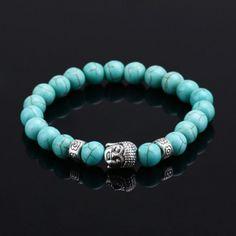 2016 Hot Natural Stone Beads Buddha Bracelets For Women Men Jewelry Silver Buddha Turquoise Black Lava Bracelet pulseras mujer! Tiger Eye Bracelet, Lava Bracelet, Gemstone Bracelets, Bangle Bracelets, Bangles, Fashion Beads, Fashion Bracelets, Fashion Fashion, Fashion Jewelry