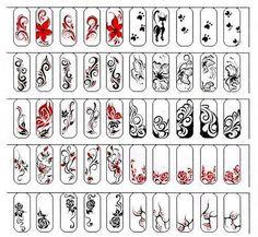 """Результат пошуку зображень за запитом """"вензеля на ногтях схемы"""""""