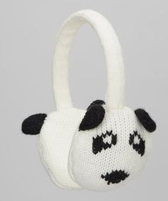 Warm and whimsical, these earmuffs feature a panda design for playful style and an adjustable, yarn-covered headband for welcome practicality. Animal Heads, Earmuffs, Buy Now, Panda, Whimsical, Baby Shoes, Take That, Ivory, Warm
