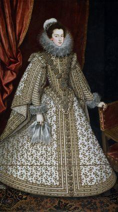Isabel de Borbón, esposa de Felipe IV by Rodrigo De Villandrando c. 1620. Museo Nacional del Prado, Madrid.