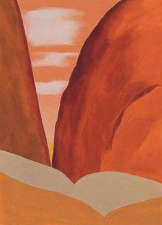 'Canyon No II 1965' by Georgia O'Keeffe. Image: Georgia O'Keeffe Museum.