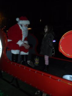 We are very lucky as Santa visits us every year for the switching on of the Christmas Lights.