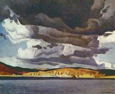 "Alfred Joseph Casson - Canadian / Group of Seven - ""October Storm"" Group Of Seven Art, Group Of Seven Paintings, Paintings I Love, Tom Thomson, Emily Carr, Canadian Painters, Canadian Artists, Landscape Art, Landscape Paintings"