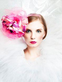 Malinda Damgaard - Headpiece, velvet, silk and crin.