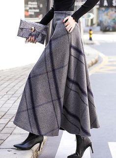 Buy Skirts, Online Shop, Women's Fashion Skirts for Sale - Floryday Modest Fashion, Women's Fashion Dresses, Hijab Fashion, Fashion Clothes, Long Skirt Fashion, Apostolic Fashion, Feminine Fashion, Winter Skirt, Winter Maxi Skirts