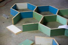 Comment fabriquer des étagères en nid dabeilles?