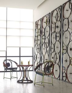 Reclaimed Bicycle Collection by Phillips Collection. Winner of the 2013 Best of Show at Boutique Design New York.