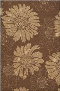 #floral Couristan Covington Topeka and Cocoa-Sand 21978022 area rug