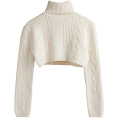 Back Cable knit crop polo Beige Light ❤ liked on Polyvore featuring tops, sweaters, crop tops, shirts, beige crop top, beige cable knit sweater, polo cable knit sweater, crop shirt and cropped tops