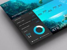 Photography Dashboard  inspiration: 50 intuitive dashboard UI designs