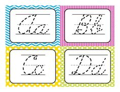 Traceable cursive writing practice cards!