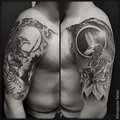 • Fechamento de braço Hórus e Anúbis por Renato (@renatorotiroti) • @scorpionstattoo Agende seu horário também! Para informações e agendamentos: contato@scorpionstattoo.com.br ☎️ (11) 5084-0056 (11) 97018-3798 WhatsApp #scorpionstattoo #desde1980 #saopaulo #vilamariana #anarosa #artenapele #tatuagem #tattoo #mitology #bestoftheday #tattooartistmagazine #tatuando #tattooing #tattooart #tattooartist #renatorotiroti #gods #egypt #protection #anubis #inspiration #ironworksbrasil #blackwo...