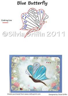 Blue Butterfly on Craftsuprint designed by Silvia Griffin - Blue Butterfly in Iris FoldingI hope you get much use and enjoyment out of this pattern. Thank you for looking and please check out all my other designs :) - Now available for download!