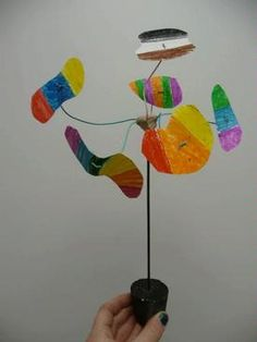 Calder mobile idea ~Learning about Color Schemes and the Color Wheel! Sculpture Lessons, Sculpture Projects, Sculpture Art, Sculpture Ideas, Art Projects For Teens, Art For Kids, Project Ideas, Mobiles, Jr Art