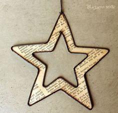 Etoile Plus (Fitness Journal Diy) Christmas Star, Christmas Crafts For Kids, Handmade Christmas, Wire Crafts, Metal Crafts, Star Diy, Stars Craft, Paper Stars, Wire Art