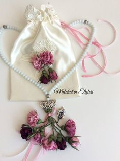 Melahat'ın Tasarımları ve Elişleri  TESBİH Silk Ribbon Embroidery, Elsa, Band, Sewing, Accessories, Handmade Crafts, Flowers, Sash, Dressmaking
