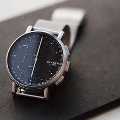 The @skagendenmark Signatur hybrid #smartwatch is designed for those who desire discreet connectivity without the addition of another screen.  Is it for you? Learn more on designmilk.com