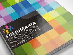Foliomania // The design portfolio brochure by Lemongraphic, via Behance.