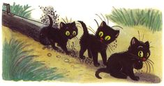 """""""Three kittens"""" V. Story Sequencing, Cat Art, Literature, Kittens, Moose Art, Christmas Ornaments, Holiday Decor, Pictures, Animals"""