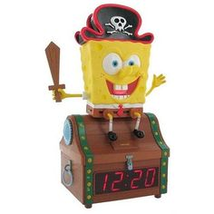 SpongeBob Treasure Chest Clock Radio