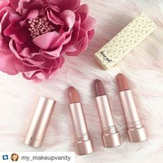 Thank you @my_makeupvanity for such a pretty photo of @fairygirl Cruelty-Free Vegan nude matte lipsticks in Girlie, Angel & Perfect