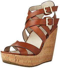 Kenneth Cole New York Women's Corbin Wedge Sandal, Cognac-$51.98