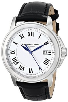 Men's Wrist Watches - Raymond Weil Mens 5578STC00300 Tradition Analog Display Swiss Quartz White Watch -- Find out more about the great product at the image link.