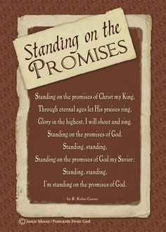 Are you standing on God's promises? https://www.facebook.com/PostcardsFromGod/