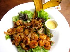 Shrimp salad at Bonuar restaurant - next to Museo de Arte Moderno Medellin