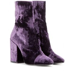 Dries Van Noten - Velvet ankle boots - Show them off to their full potential with high hemlines and retro-inspired accessories. - @ www.mytheresa.com