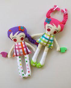 Cute, sweet little dolls.