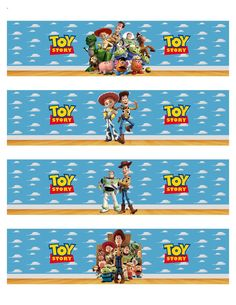 Toy Story Inspired Water Bottle Labels by PinkyandBluesy on Etsy Fête Toy Story, Toy Story Theme, Toy Story Party, 2 Birthday, Toy Story Birthday, Birthday Ideas, Desenho Toy Story, Festa Toy Store, Imprimibles Toy Story Gratis