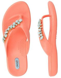 82edbf637 Dress up any outfit with these beautiful stone adorned flip flops. Never go  out of style with these classy and chic sandals.