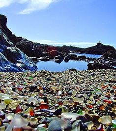 Glass Beach, Mendocino, CA. I have to go and see this! This is so amazing!