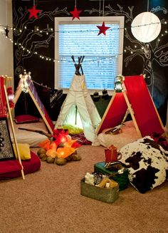 Indoor campout-SO cute! Here's what's in my head Wellness Donoghue-Ransley ! hammocking camping, camping kids, camping checklists campout-SO cute! Here's what's in my head Wellness Donoghue-Ransley ! Sleepover Party, Slumber Parties, Camping Activities For Kids, Camping Ideas, Camping Toys, Camping Cabins, Camping Trailers, Camping Checklist, Camping Hacks