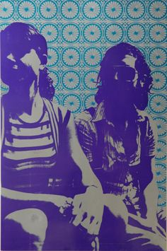 like the black & white over the colored pattern Poster Prints, Art Prints, Ap Art, Stencil Art, Silk Screen Printing, Printmaking, Art Inspo, Art Photography, Illustration Art