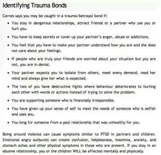Trauma bonds A Help for narcissistic sociopath relationship survivors Narcissistic Personality Disorder, Narcissistic Sociopath, Personality Disorder Types, Narcissistic People, Abusive Relationship, Toxic Relationships, Stress Disorders, Mental Disorders, Anxiety Disorder