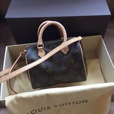 AUTH NIB Louis Vuitton nano speedy Bought for two months never used... ️to avoid 20% fee so ️ 860 Louis Vuitton Bags Crossbody Bags