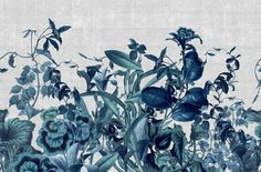 HERBARIUM - Designer Wall coverings / wallpapers from LONDONART ✓ all information ✓ high-resolution images ✓ CADs ✓ catalogues ✓ contact. Bathroom Wallpaper, Wall Wallpaper, Cabinet Medical, Decorative Plaster, Wall Colors, Decoration, Flower Patterns, Wall Murals, Orchids