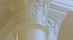 Detail on columns in the Paris France Temple.