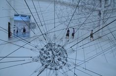 Tomás Saraceno, Galaxies Forming along Filaments, Like Droplets along the Strands of a Spider's Web, 2009 at Venice Biennale